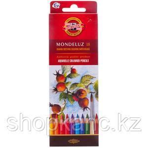 Карандаши акварельные, Mondeluz, 18 цветов.