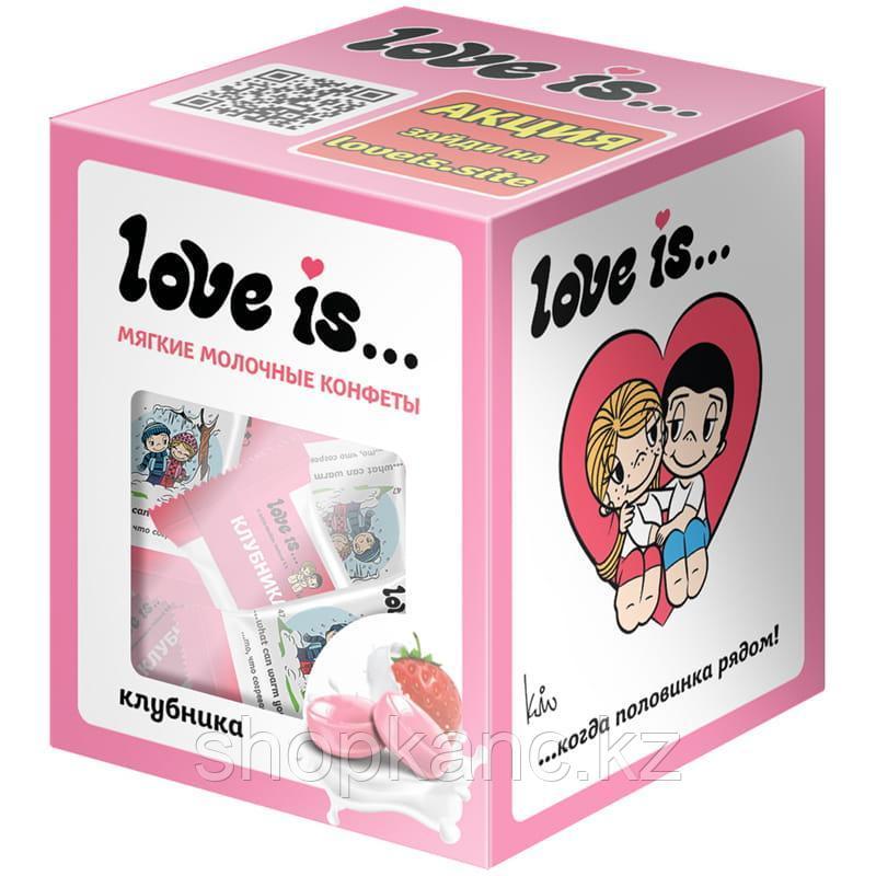 Жевательные конфеты Love is…, клубничный йогурт, 105г