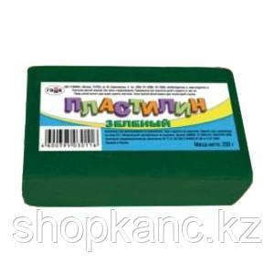 Пластилин цветной зеленый, 250г
