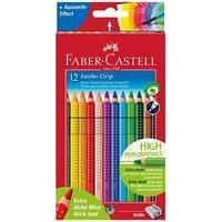 Цветные карандаши Jumbo Grip, 12 цветов, утолщенные, в картонной коробке.
