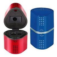 Точилка TRIO GRIP 2001, красный и синий, ассорти.
