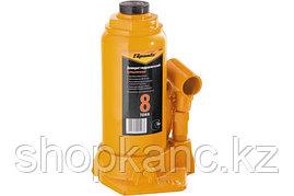 Домкрат гидравлический бутылочный, 8 т, h подъема 200-385 мм