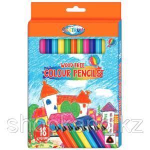 Карандаши цветные пластиковые 18 цветов, трехгранные