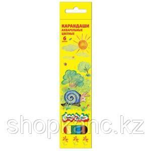 Карандаши акварельные Каляка-Маляка 6 цветов 3+