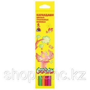 Карандаши цветные Каляка-Маляка 6 цветов, неоновые 3+