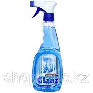 Средство для мытья стекол и зеркал GLANZ, Голубой лед, 500 мл, триггер.