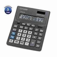 Калькулятор настольный Citizen Business Line CDB1401-BK, 14 разрядов, двойное питание, 155*205*35мм,