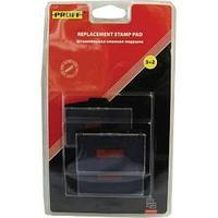 """Штемпельная подушка сменная """"Proff"""" для модели 3765 синяя с красным (7/640/2-bl)"""