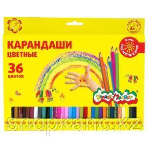 Набор цветн.каранд Каляка-Маляка 36 цв. шестигранные дерев. 3+