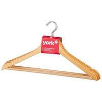 Вешалка для одежды, деревянная, 3 шт. YORK