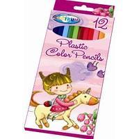 Карандаши цветные пластиковые 12 цветов Единорог