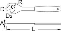 Ключ для каретки для BSA30 - 2620/2BI UNIOR, фото 2