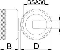 Головка для установки каретки BSA30 - 1671.BSA30 UNIOR, фото 2