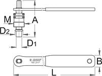 Съёмник стандартных шатунов, шатунов Shimano Octalink и Isis с рукояткой - 1661.3/4P UNIOR, фото 2