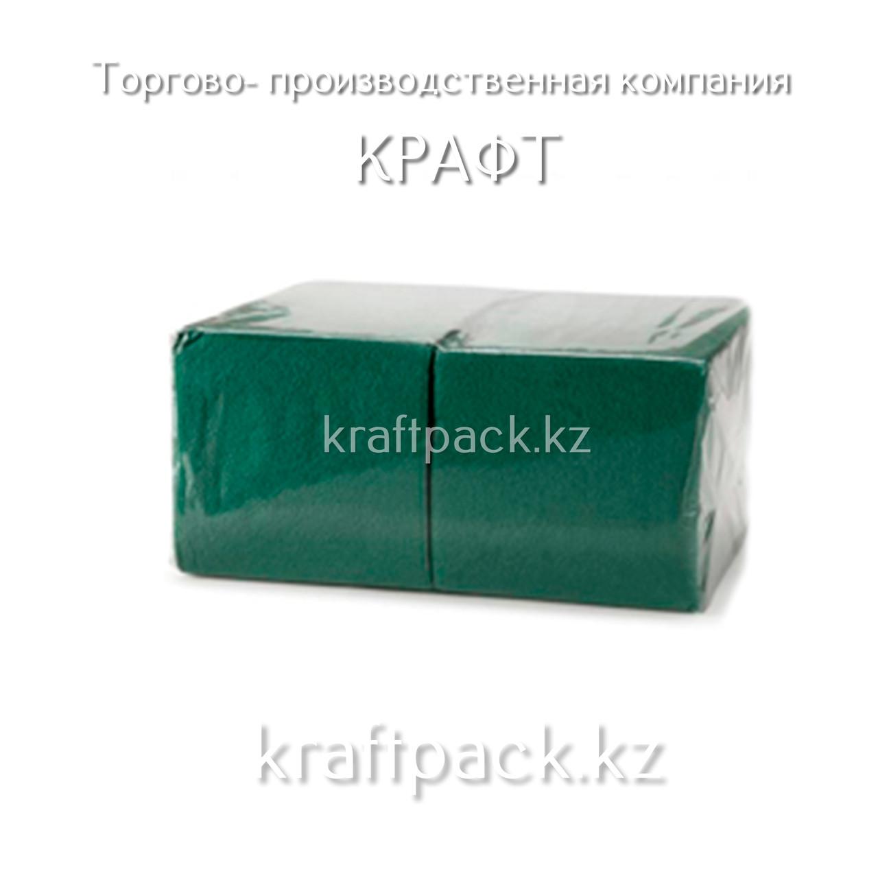 "Салфетки ""БигПак"" 24х24 Зеленые 1сл. (400шт/уп)"