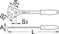 Ключ педальный, PROFI - 1613/2BI UNIOR, фото 2
