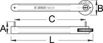 Приспособление для проверки цепи, PROFI - 1643/4 UNIOR, фото 2