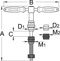 Приспособление для торцевой обработки кареточной трубы (BSA и ITAL) - 1699old UNIOR, фото 2