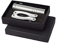 Подарочный набор Scout с многофункциональным ножом и фонариком, серебристый