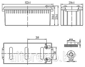 Карбоновый аккумулятор Delta CGD 12200 (12В, 200Ач), фото 2