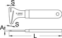 Инструмент для правки тормозных дисков - 1666/2DP UNIOR, фото 2