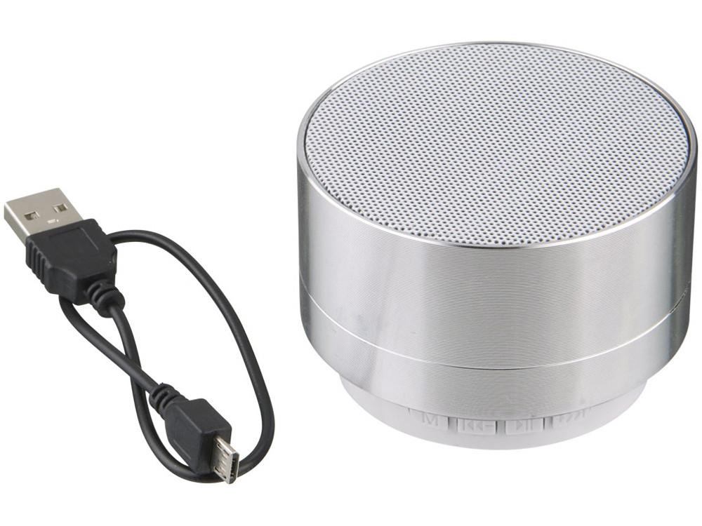 Цилиндрический динамик Bluetooth®, серебристый - фото 4