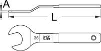 Ключ для конических гаек, односторонний изогнутый - 1618/2DP UNIOR, фото 2