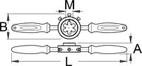 Резьбонарезной инструмент для вилки - 1696 UNIOR, фото 2