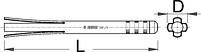 Съёмник чашек подшипника - 1681/4 UNIOR, фото 2