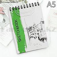 Скетчбук для зарисовок классический с белой бумагой на спирале SketchBook Big Role 3 148х210 мм 40 листов А5
