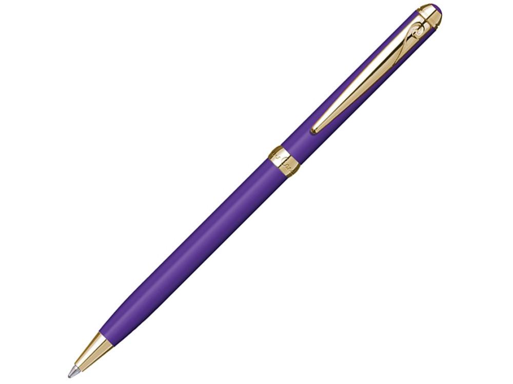 Ручка шариковая Pierre Cardin SLIM с поворотным механизмом, фиолетовый/золото - фото 1