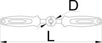 Рукоятка для развертки и метчиков - 1695.1/4BI UNIOR, фото 2