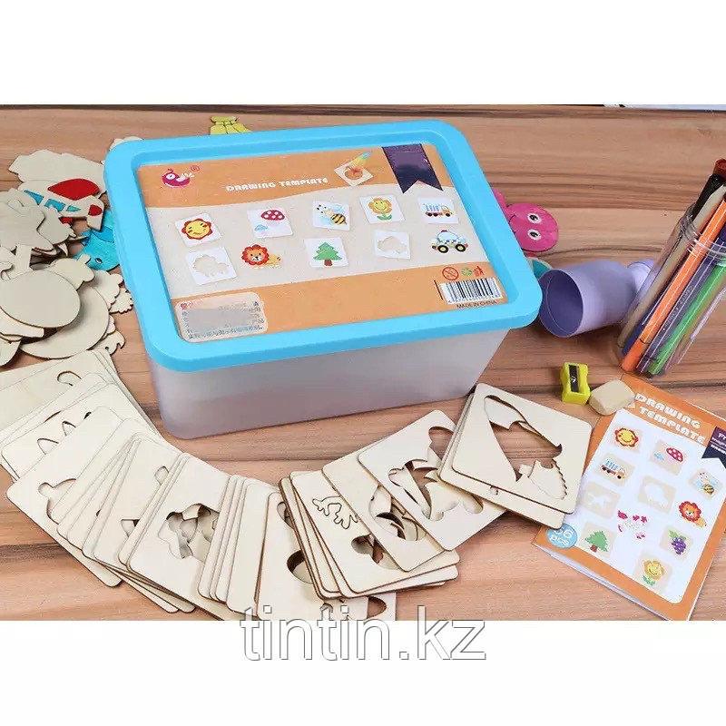 Детский набор для творчества — Трафареты (56 деталей)