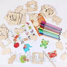 Детский набор для творчества — Трафареты (56 деталей), фото 2