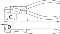 Съёмник внутренних стопорных колец с загнутыми концами - 538PLUS/1DP UNIOR, фото 2