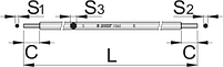 Шестигранный ключ для вилок Suntour и RST - 1703/2 UNIOR, фото 2