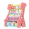 Детский стеллаж для хранения игрушек Жираф розовый