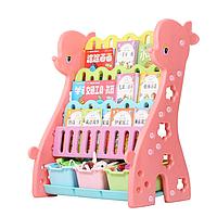 Детский стеллаж для хранения игрушек Жираф розовый, фото 1