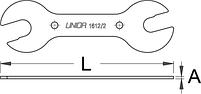 Ключ для конических втулок - 1612/2 UNIOR, фото 2