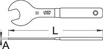 Ключ для конических гаек, односторонний - 1617/2DP UNIOR, фото 2