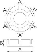 Ключ спицевый строенный - 1631/2 UNIOR, фото 2