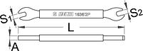 Ключ для спиц 5 и 5,5 мм - 1636/2P UNIOR, фото 2