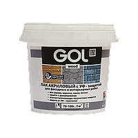 Лак акриловый полуматовый с UV-защитой (0,9 кг)