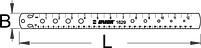 Линейка для измерения спиц, подшипников - 1629 UNIOR, фото 2
