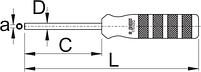 Торцевая отвёртка для квадратного ниппеля - 1751/2Q UNIOR, фото 2