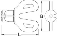 Ключ для ниппеля со звездообразным профилем DT Swiss - 1630/4DTPR UNIOR, фото 2