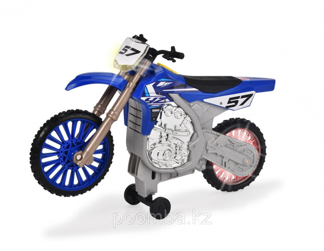 Мотоцикл Yamaha YZ  моторизированный, 26 см  Dickie Toys