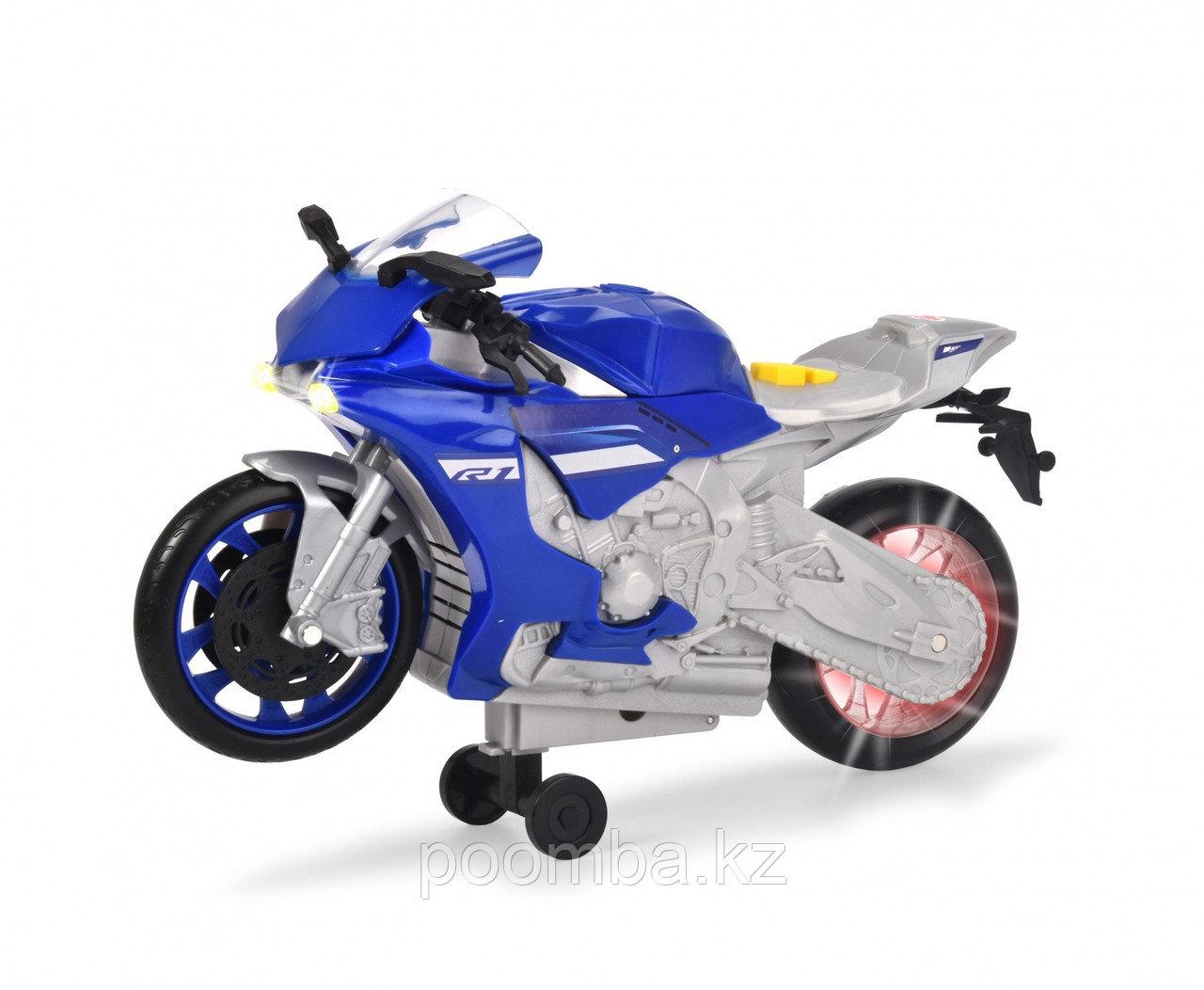 Мотоцикл Yamaha R1 26 см свет звук Dickie Toys
