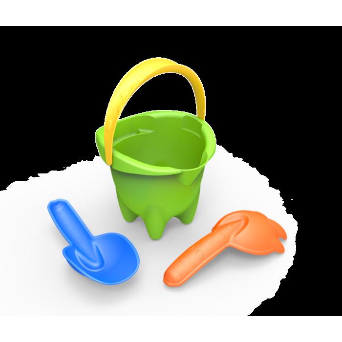 Набор Песочный №5 размер Normal, 3 предмета (зелёный ведро)