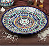 Табак круглый Производство Узбекистан Риштанская керамика (ручная работа) 36 см